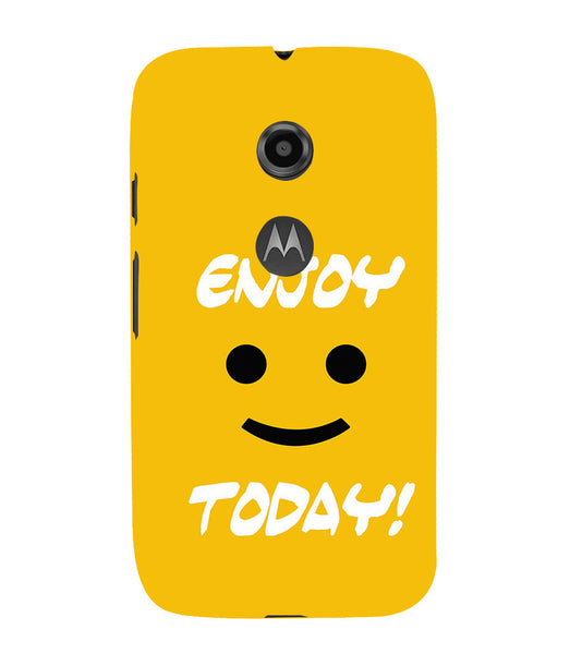 EPICCASE Enjoy today Back Case Cover for Moto E2