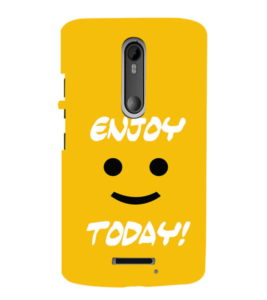 EPICCASE Enjoy today Back Case Cover for Moto X3
