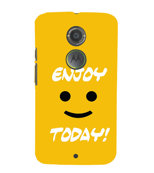 EPICCASE Enjoy today Back Case Cover for Moto X2