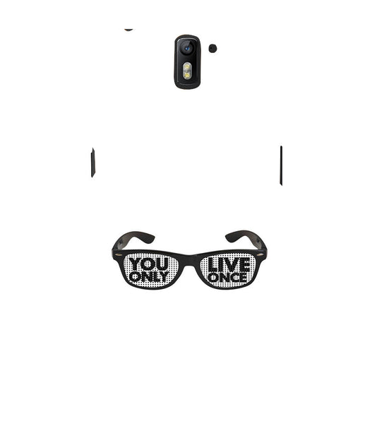 EPICCASE YOLO GLASSES Back Case Cover for Oneplus One