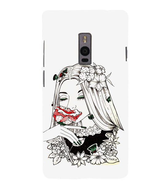 EPICCASE Cute flower girl Back Case Cover for Oneplus Two