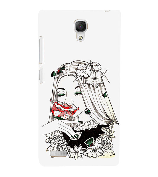 EPICCASE Cute flower girl Back Case Cover for Xiaomi Redmi Note