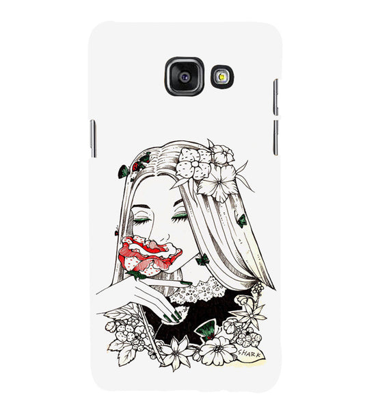 EPICCASE Cute flower girl Back Case Cover for Samsung A5 2016
