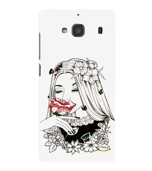 EPICCASE Cute flower girl Back Case Cover for Xiaomi Redmi 2s