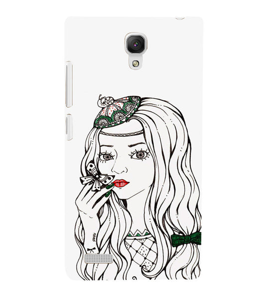 EPICCASE Cute butterfly girl Back Case Cover for Xiaomi Redmi Note prime