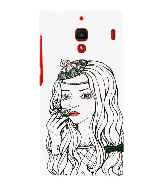 EPICCASE Cute butterfly girl Back Case Cover for Xiaomi Redmi 1s