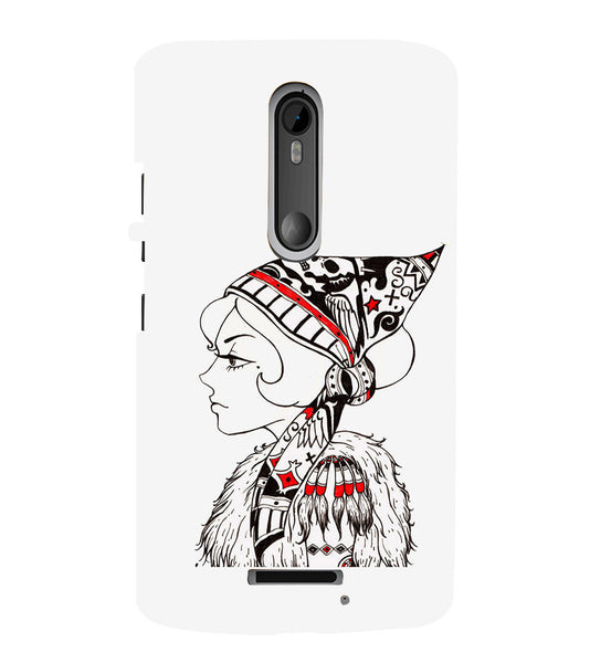 EPICCASE Cute funky girl Back Case Cover for Moto X3
