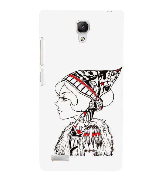 EPICCASE Cute funky girl Back Case Cover for Xiaomi Redmi Note