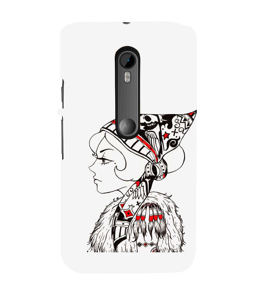 EPICCASE Cute funky girl Back Case Cover for Moto X Force
