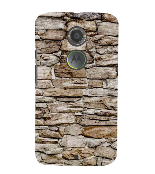 EPICCASE stone wall Back Case Cover for Moto X2