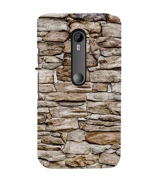 EPICCASE stone wall Back Case Cover for Moto X Force