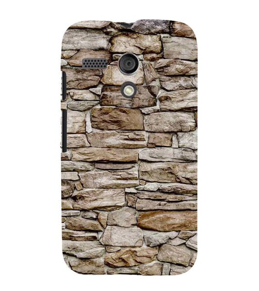 EPICCASE stone wall Back Case Cover for Moto G