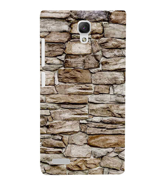 EPICCASE stone wall Back Case Cover for Xiaomi Redmi Note