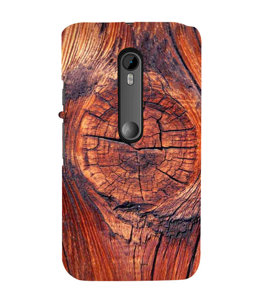 EPICCASE 3d wood finish Back Case Cover for Moto X Force