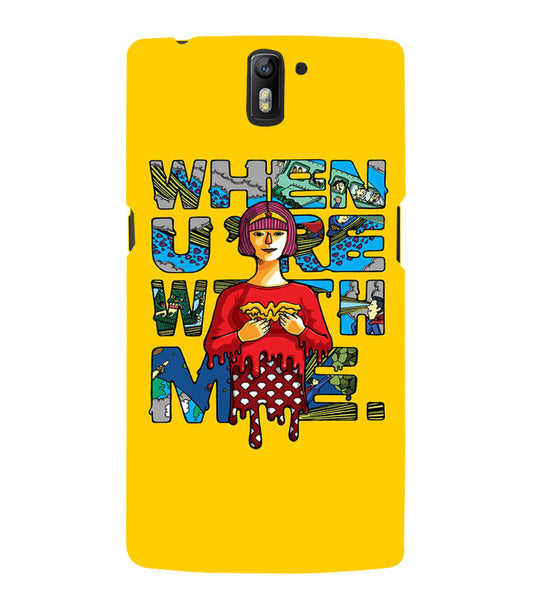 EPICCASE Wonderwoman love Back Case Cover for Oneplus One