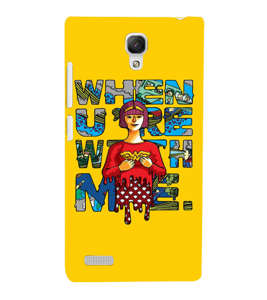 EPICCASE Wonderwoman love Back Case Cover for Xiaomi Redmi Note prime