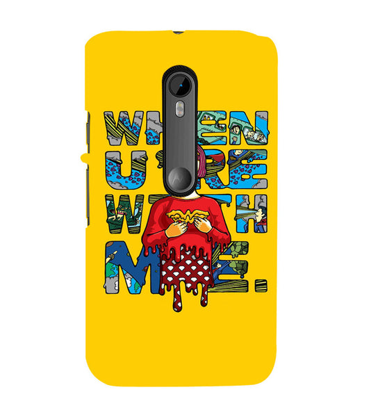 EPICCASE Wonderwoman love Back Case Cover for Moto X Style