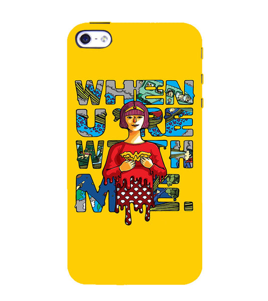EPICCASE Wonderwoman love Back Case Cover for Apple iPhone 5/5s