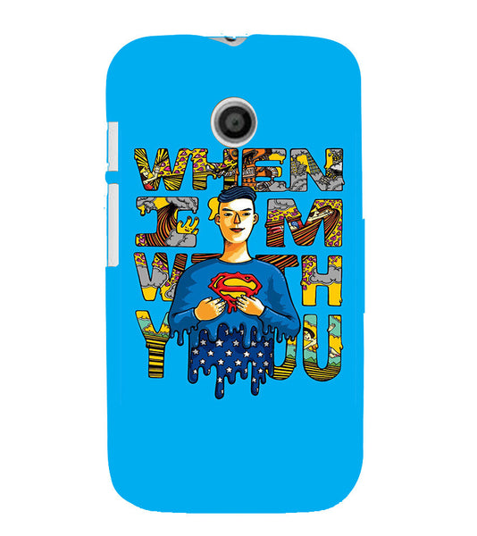 EPICCASE Superman love Back Case Cover for Moto E
