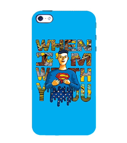 EPICCASE Superman love Back Case Cover for Apple iPhone 5/5s