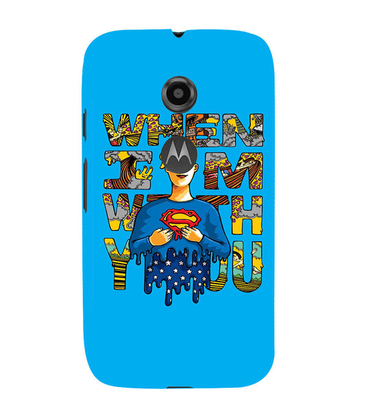 EPICCASE Superman love Back Case Cover for Moto E2