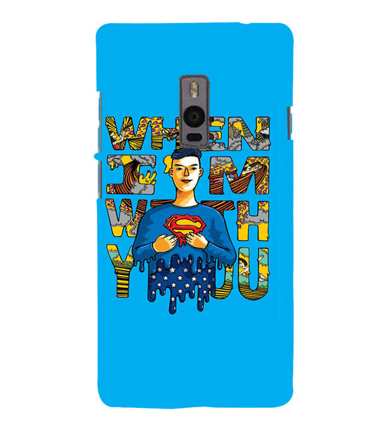 EPICCASE Superman love Back Case Cover for Oneplus Two