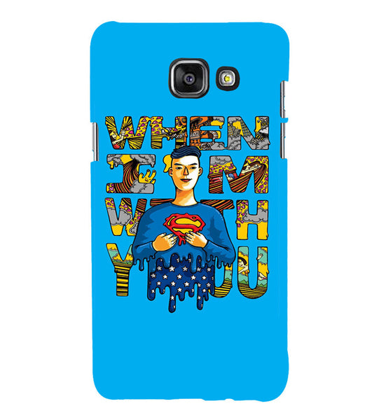 EPICCASE Superman love Back Case Cover for Samsung A7 2016