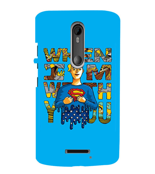 EPICCASE Superman love Back Case Cover for Moto X3