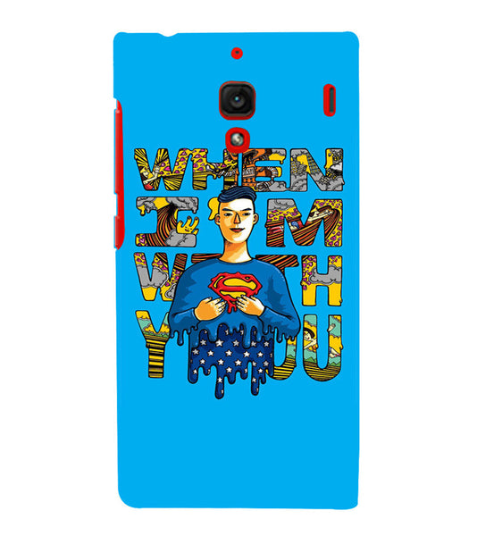 EPICCASE Superman love Back Case Cover for Xiaomi Redmi 1s