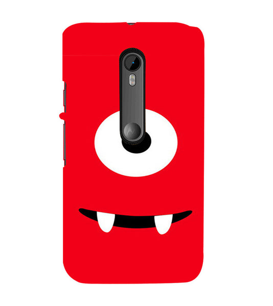 EPICCASE Cute monster Back Case Cover for Moto X Force