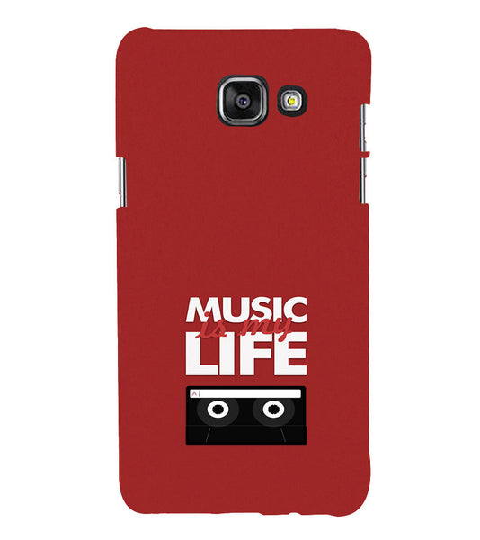 EPICCASE Music is Life Back Case Cover for Samsung A7 2016