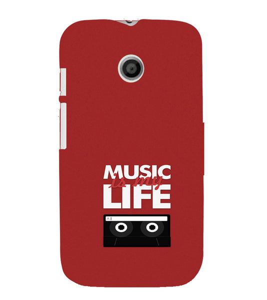 EPICCASE Music is Life Back Case Cover for Moto E