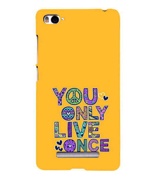 EPICCASE Life is Short Back Case Cover for Xiaomi Redmi Mi4i