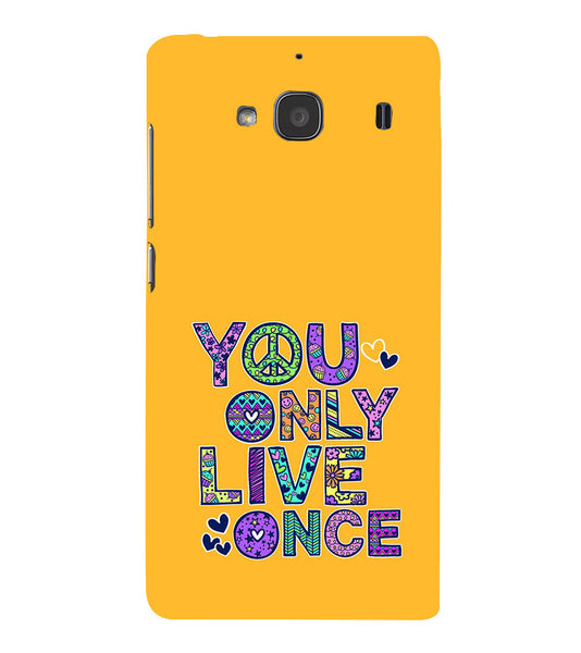 EPICCASE Life is Short Back Case Cover for Xiaomi Redmi 2s