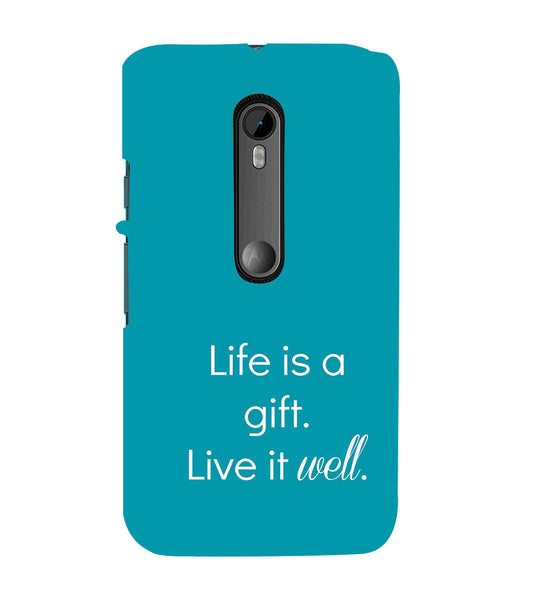 EPICCASE Live is a gift Back Case Cover for Moto X Style