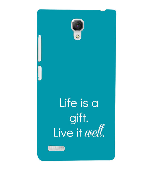 EPICCASE Live is a gift Back Case Cover for Xiaomi Redmi Note prime