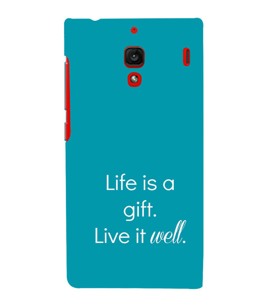 EPICCASE Live is a gift Back Case Cover for Xiaomi Redmi 1s