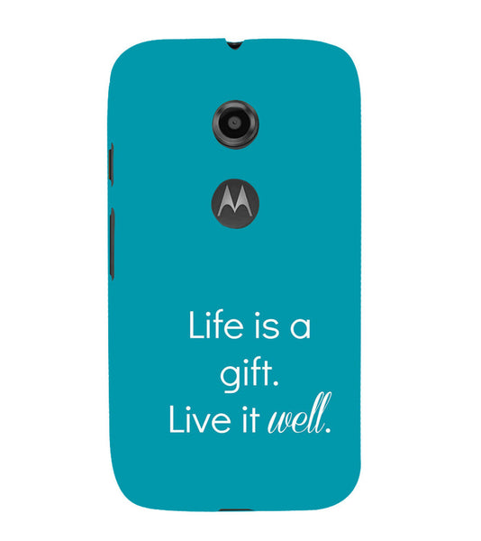 EPICCASE Live is a gift Back Case Cover for Moto E2