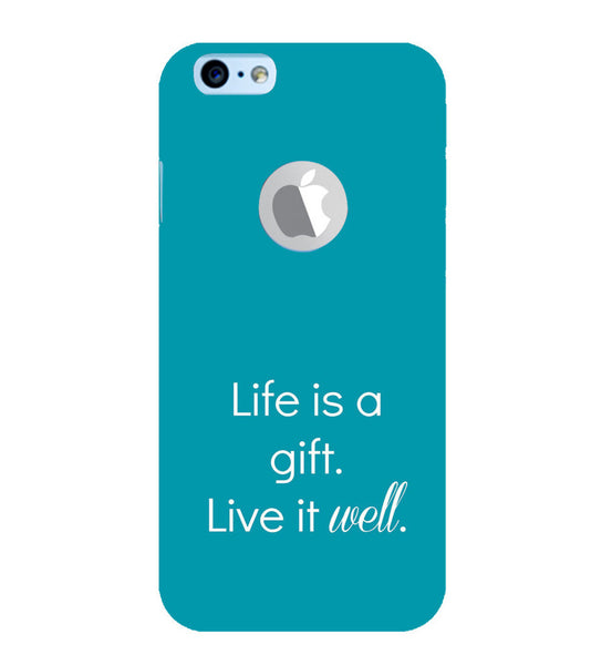 EPICCASE Live is a gift Back Case Cover for Apple iPhone 6/6s