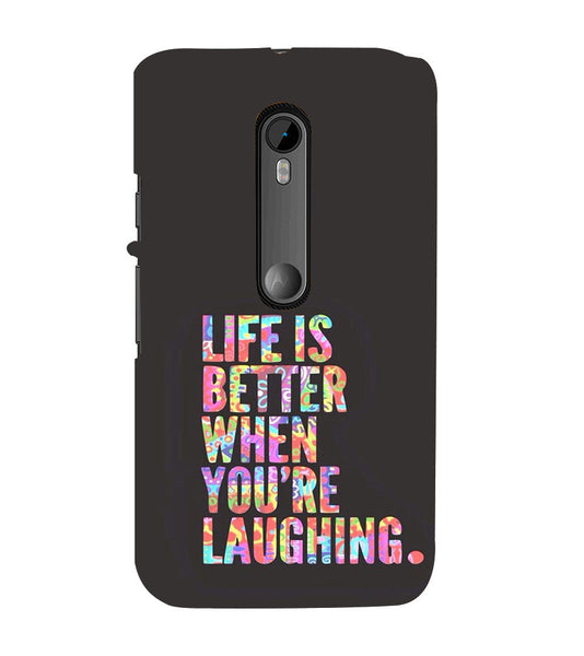 EPICCASE Better Life Back Case Cover for Moto X Force