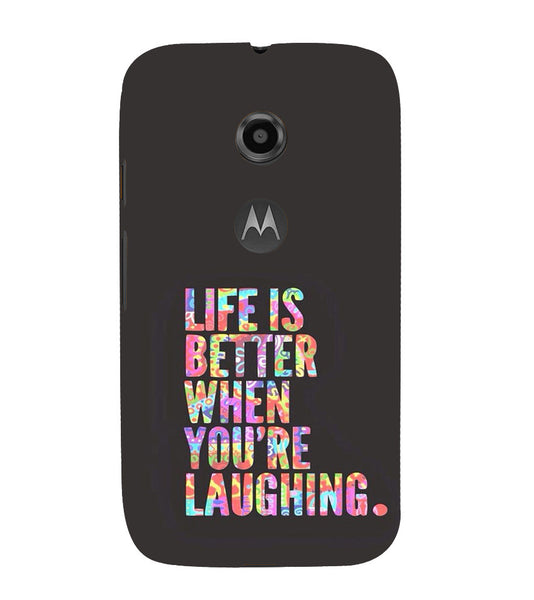 EPICCASE Better Life Back Case Cover for Moto E2