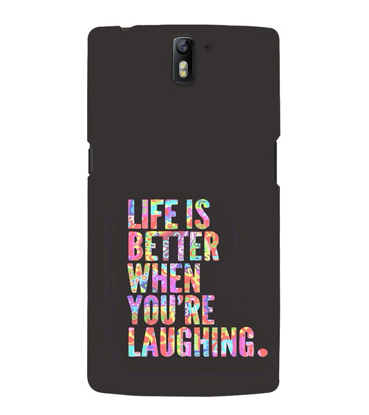 EPICCASE Better Life Back Case Cover for Oneplus One