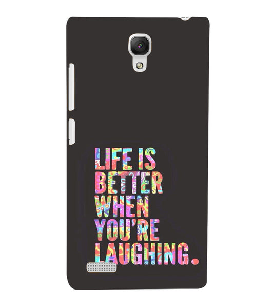 EPICCASE Better Life Back Case Cover for Xiaomi Redmi Note prime