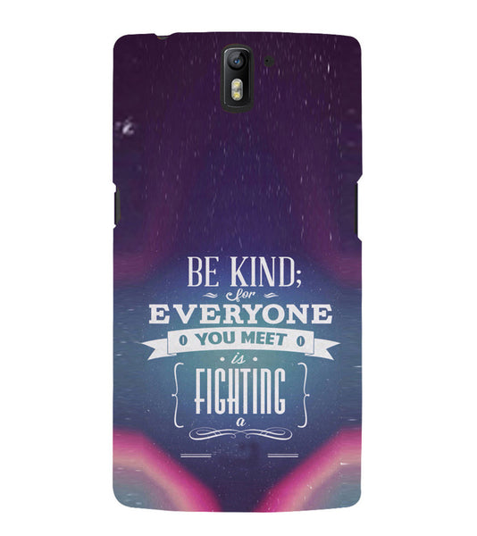 EPICCASE Wisewords Back Case Cover for Oneplus One