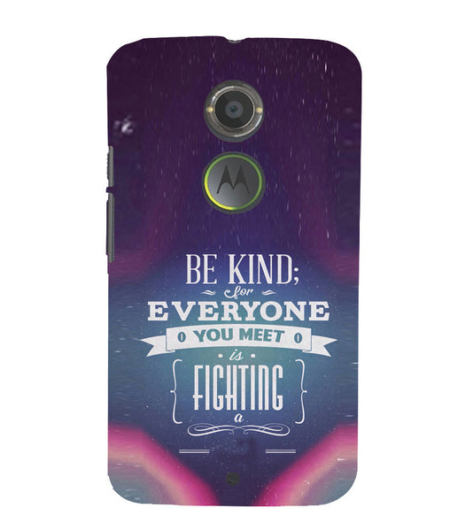 EPICCASE Wisewords Back Case Cover for Moto X2