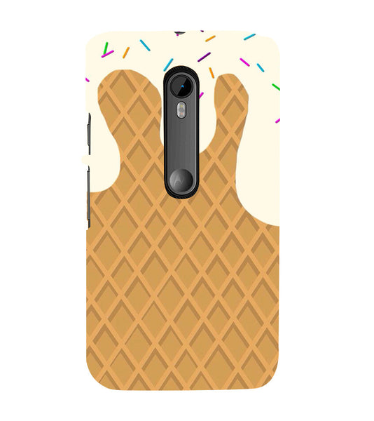 EPICCASE Waffer Case Back Case Cover for Moto X Play