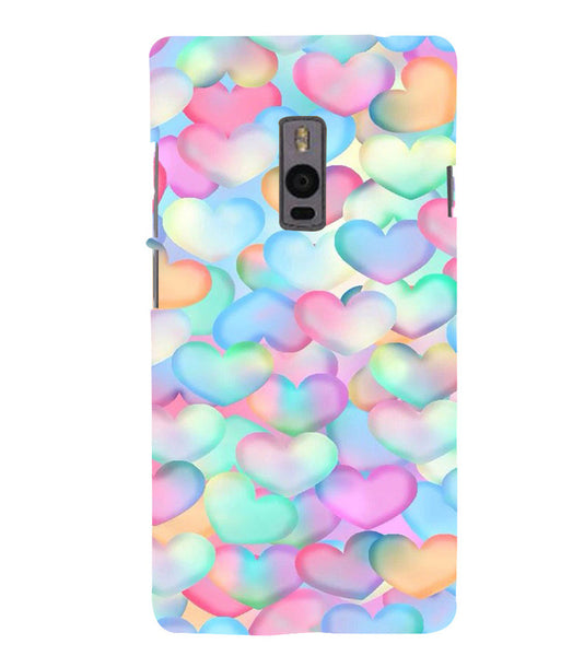 EPICCASE Colorful Hearts Back Case Cover for Oneplus Two