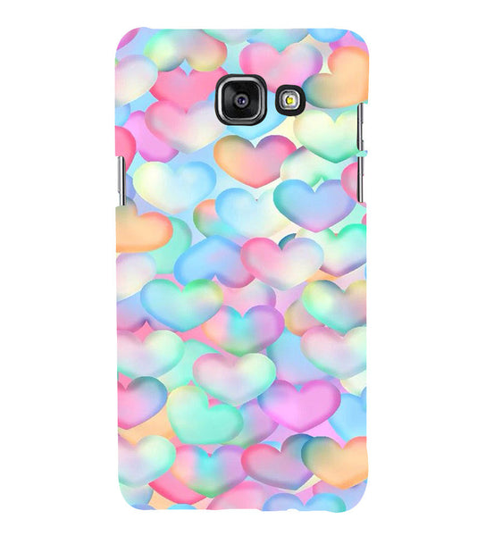 EPICCASE Colorful Hearts Back Case Cover for Samsung A7 2016