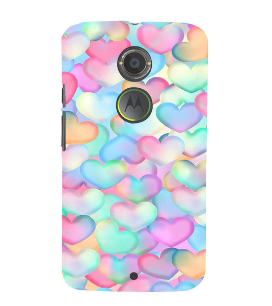 EPICCASE Colorful Hearts Back Case Cover for Moto X2