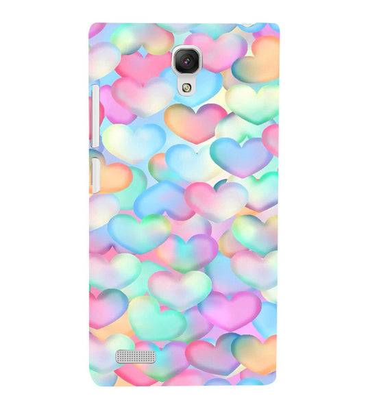 EPICCASE Colorful Hearts Back Case Cover for Xiaomi Redmi Note